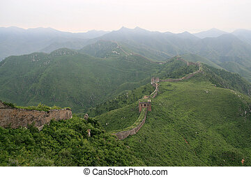 the Great Wall in china - Bothriochloa Tongkuangyu the...