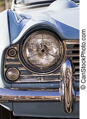 vintage car detail - Detail view of a vintage car on display...
