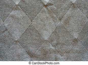 Knitted wool pattern rhomb form grey background - Knitted...