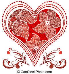 Large red vintage heart