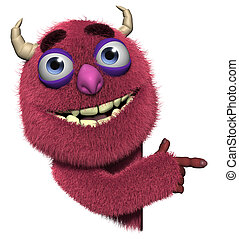 3d cartoon cute halloween monster