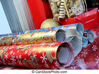 Christmas wrapping paper - Mix of christmas wrapping paper...