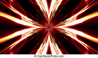 Red Orange Abstract Digital Flower Looping Animated...