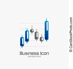 Stock chart icon - Stock chart bar icon design