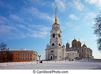 Assumption cathedral  at Vladimir in winter, Russia