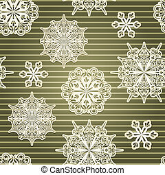 Vector Seamless Background with paper cut snowflakes, eps 10...