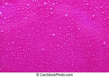 Raindrops on a pink background