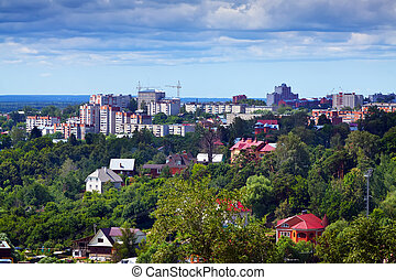Top view of Vladimir city - Top view of Vladimir city,...