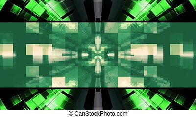 High Tech Abstract Tunnel Looping Animated Background