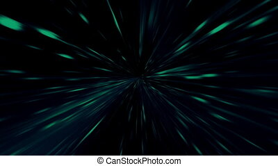 Blue Green Looping Streaks Animated Background