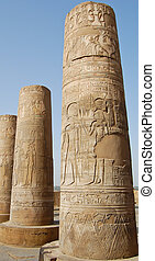 Kom Ombo temple, Egypt - Crocodile god Sobek and Hathor...