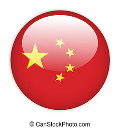 China flag button