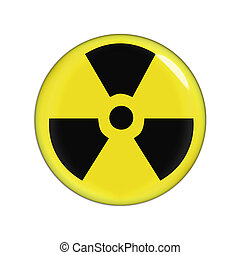 radiation warning - yellow and black radiaction warning...