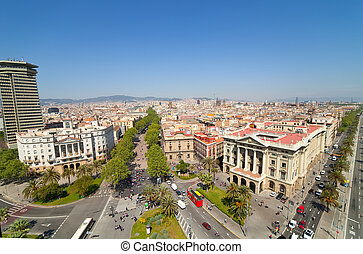 Top view of Barcelona - Top view of Barcelona from Columbus...