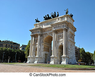 The Architecture in Milano - The Arch champion in Milano