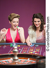 Women winning at roulette