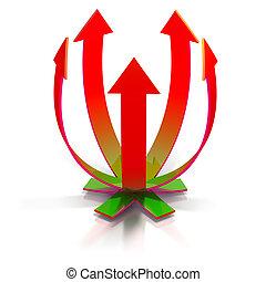 Rising arrows concept