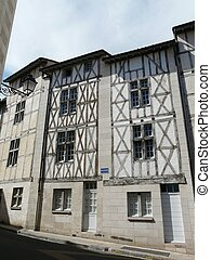 Half-timbered houses in Poitiers, France