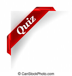 Quiz Red Banner - Red glass top banner. Part of a series.