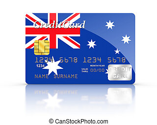 Credit Card with Australia flag.