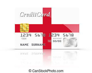 Credit Card covered with England flag.
