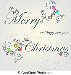 Beautiful card with Christmas