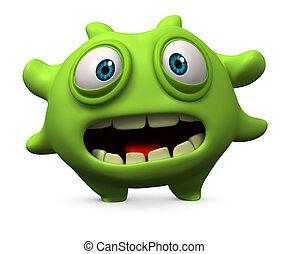 virus, verde