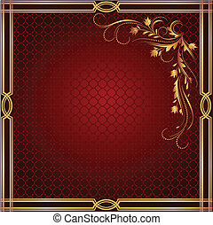 Luxurious golden ornament - Background with luxurious golden...