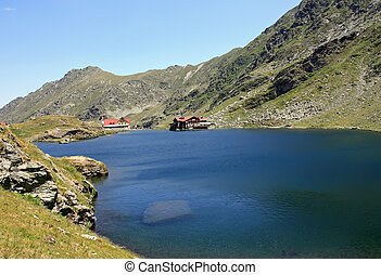 Balea glacial lake - Glacial lake in Fagaras mountains,...