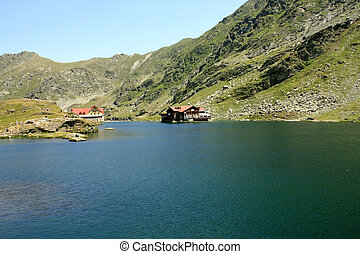 Glacial lake in Fagaras mountains