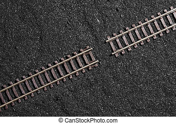 gap between railroad tracks