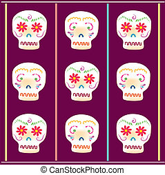 Day of the Dead Sugar skull - A vector illustration in EPS...