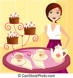 tea party - A vector illustration in EPS file.