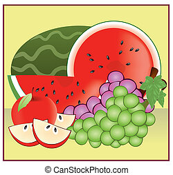 fruits 2 - A vector illustration in EPS file