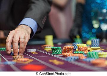 Man placing a bet