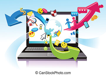 Information technology - A vector illustration of the...