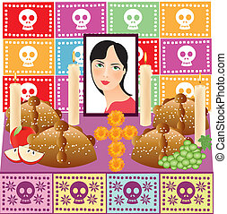Day of the Dead 3 - A vector illustration in EPS file.