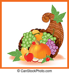 thanksgiving day food - A vector illustration in EPS file