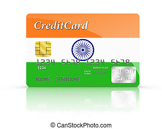 Credit Card covered with Indian flag.