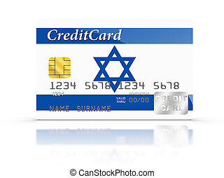 Credit Card covered with Israel flag.
