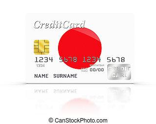crédito, cartão, coberto, Japão,...