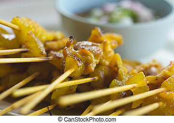 Satay pork - Pork satay is delicious Asian food