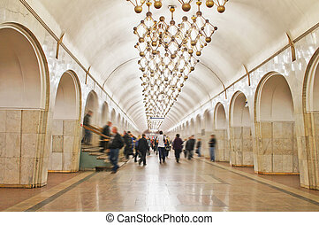 subway station - The image of Moscow subway station