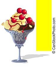 Sundae Ice-Cream with Che - A greedy Ice-Cream Bowl with...