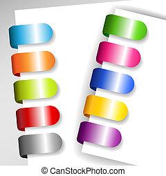 Set of metallic paper tags