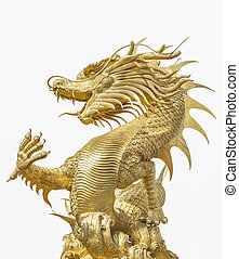 Giant golden Chinese dragon for year 1212