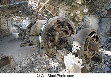 Old Abandoned Electric Powerhouse Station - Old Abandoned...