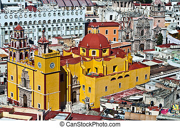 Mexican Colonial Architecture of Guanajuato Mexico -...