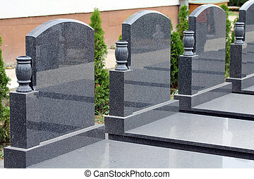 Tombstone - Couple of empty marble tombstone.