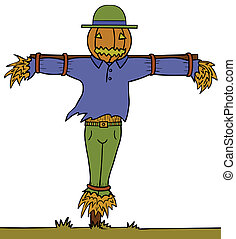 Scary Scarecrow Pumpkin head